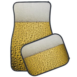 Beer Glass With Bubbles Car Floor Mat