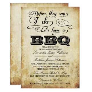 Before They Say I Do Lets Have A Bbq Vine Card