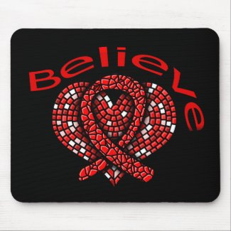 Believe Heart Disease mousepad