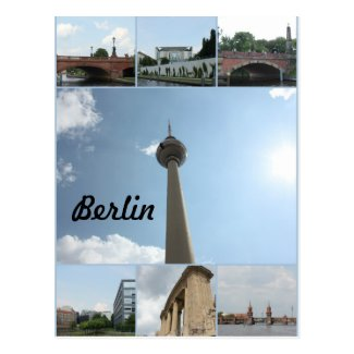 Berlin Architecture Photo Collage Postcard