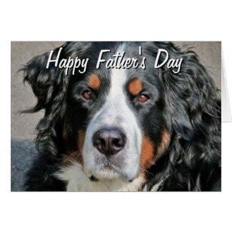 Bernese Mountain Dog Photo Image Happy Father's Da Greeting Card