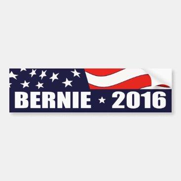 Bernie Sanders President 2016 American Flag Bumper Sticker