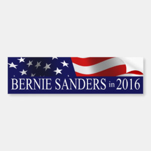 Bernie Sanders President 2016 USA Flag Car Bumper Sticker