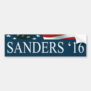 Bernie Sanders President in 2016 Car Bumper Sticker