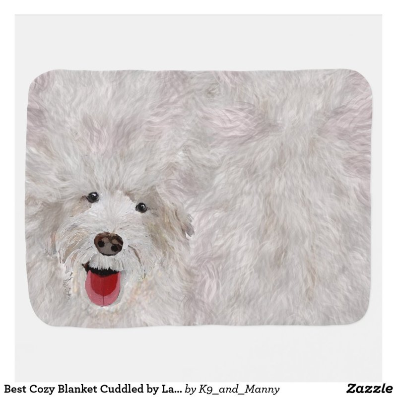 Best Cozy Blanket Cuddled by Labradoodle