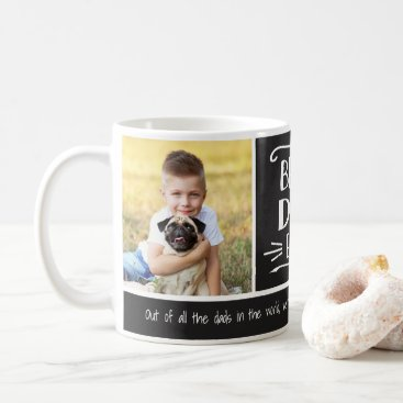 Best Dad Ever   2 Photo Custom Color Mug