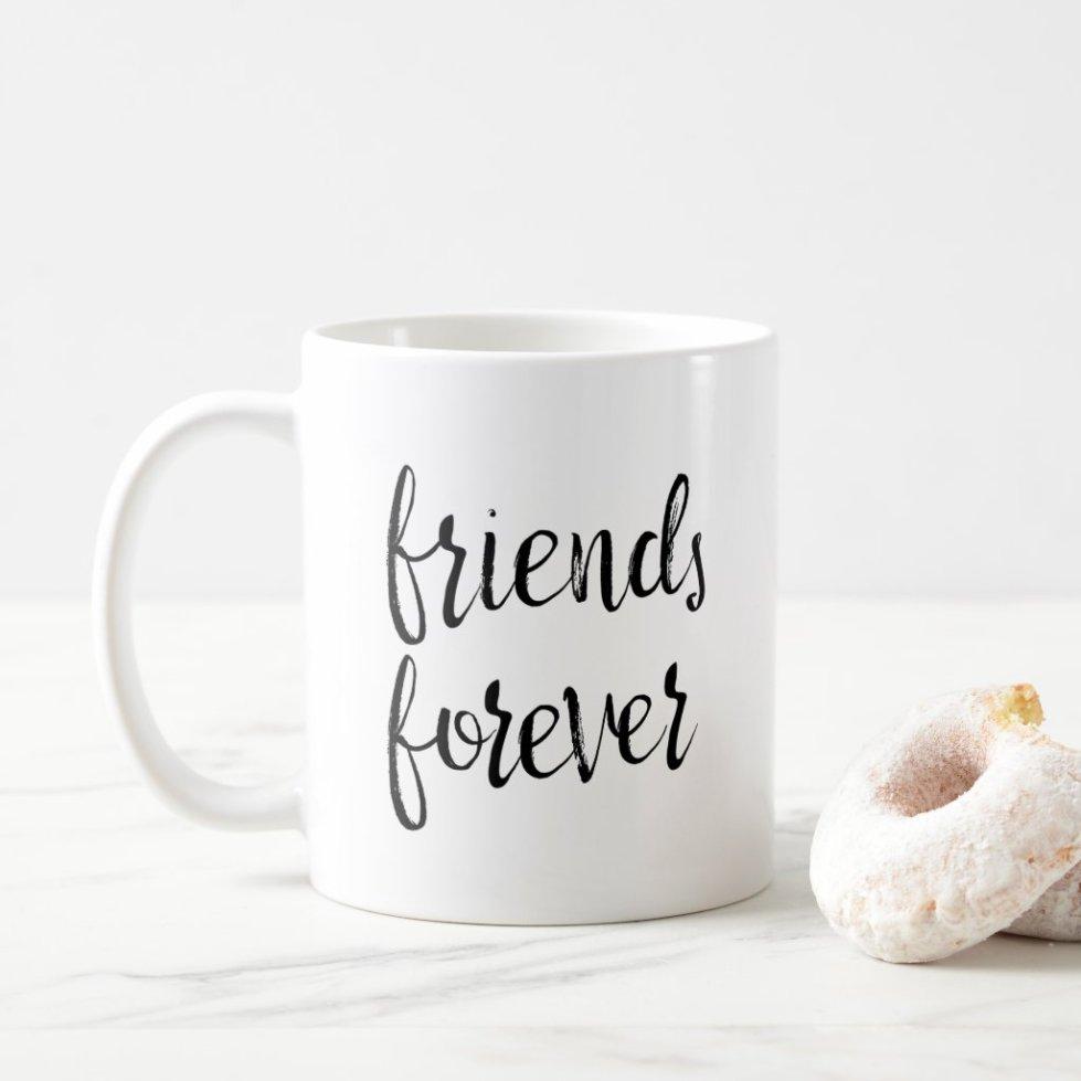 Best Friends Gift Mug Blonde and Brunette