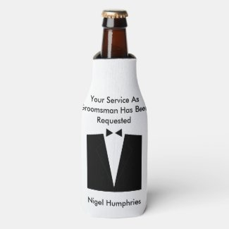 Best Man or Groomsman Invite Bottle Cooler