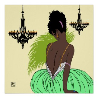 Bianca in Green - Prints/Posters print