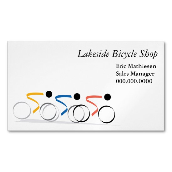 Bicycle Race Logo Magnetic Business Card