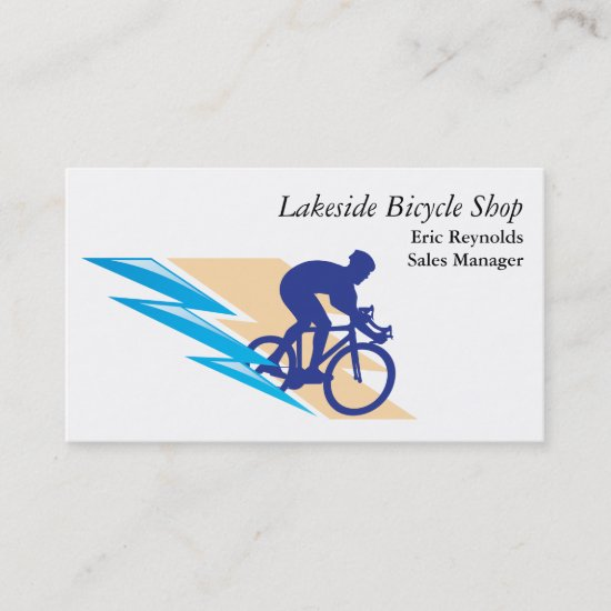 Bicycle Rider Logo Business Card