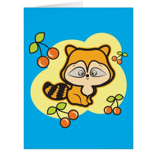 Big greeting card 8.5 x 11 inches with a fox