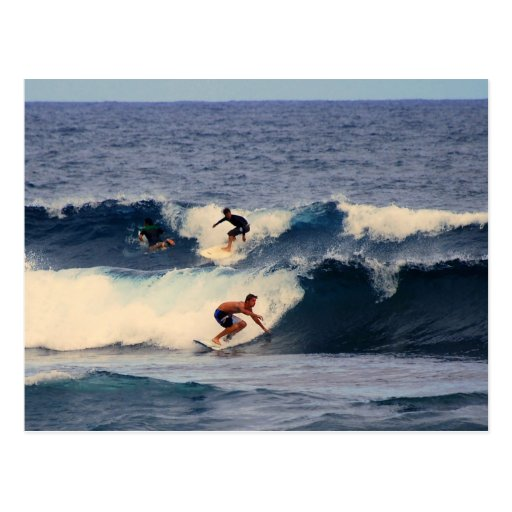 Big Island Hawaii Surfers Postcard
