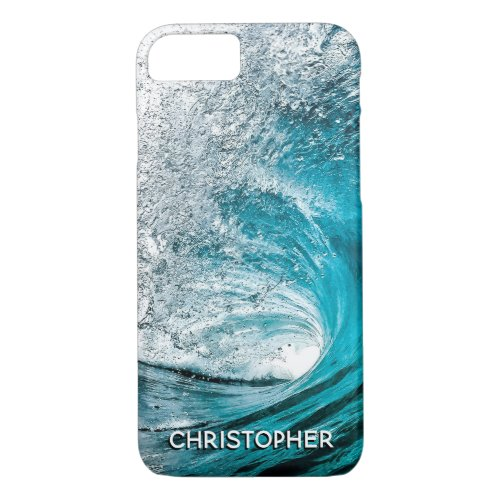 Big Ocean Wave Splash to Add your Name iPhone 8/7 Case