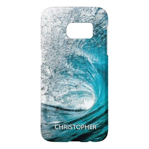 Big Ocean Wave Splash to Add your Name Samsung Galaxy S7 Case