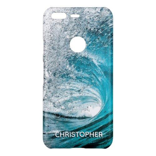 Big Ocean Wave Splash to Add your Name Uncommon Google Pixel Case