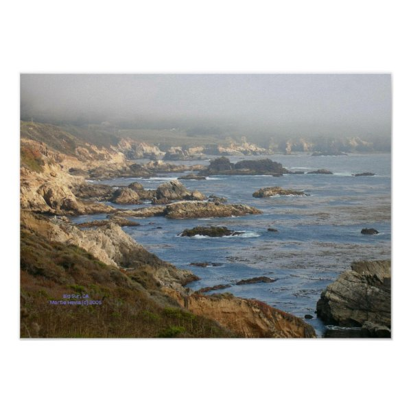 Big Sur Rocky Coast Print - Select Your Frame print
