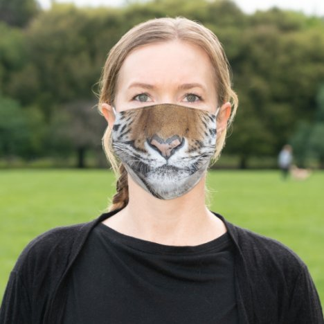 Big Tiger Nose and Mouth Adult Cloth Face Mask