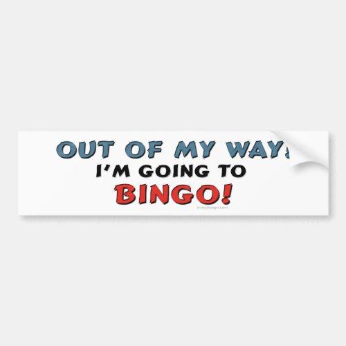 Bingo Lovers Bumper Sticker