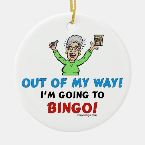 Bingo Lovers Ceramic Ornament