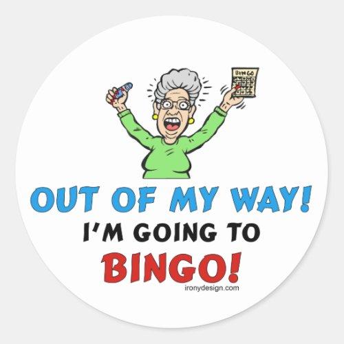 Bingo Lovers Classic Round Sticker