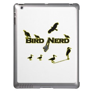 Bird Nerd Silhouette Cover For iPad
