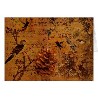 Bird Song New Year Card