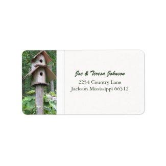 Birdhouse Address Labels