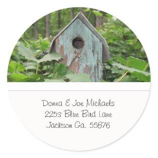 Birdhouse Address Stickers sticker