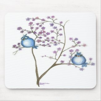 Birds and Blossoms... Mouse Pad mousepad