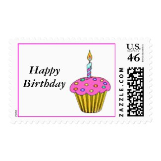 Birthday Cupcake stamp