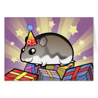 Birthday Dwarf Hamster Card