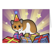 Birthday Syrian Hamster Card
