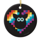 Bitmap Furby Heart Ornaments