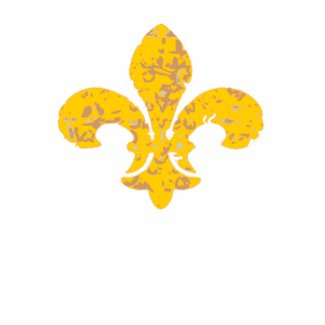 Black and Gold Fleur De Lis shirt