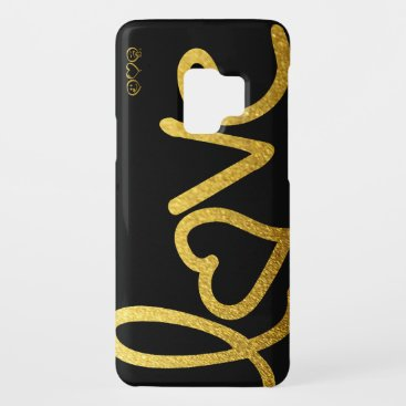 Black and Gold Love Case-Mate Samsung Galaxy S9 Case