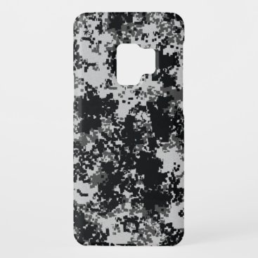 Black and White Digital Camouflage Case-Mate Samsung Galaxy S9 Case