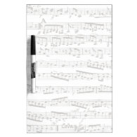 Black and white musical notes Dry-Erase board