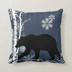 black bear decorative throw pillows