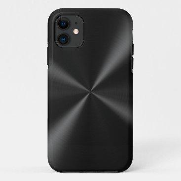 Black Brushed Metal iPhone 11 Case