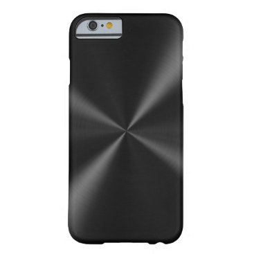Black Brushed Metal Barely There iPhone 6 Case