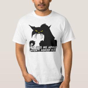Black Cat Advice Humor T-Shirt