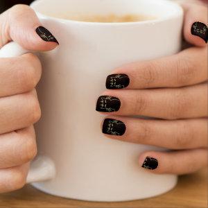 Black Cat Fingernails Cool Lover Decor Minx Nail Art