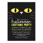 Black Cat Halloween Costume Party Invitation