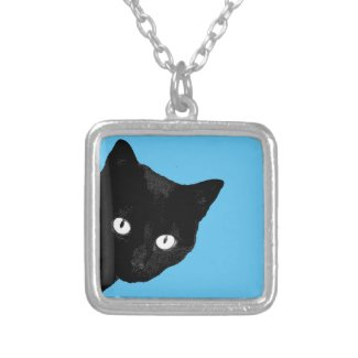 Custom Color Black Kitten Necklace