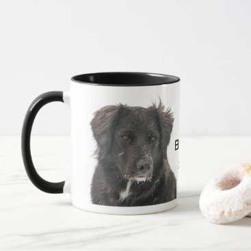 Black Lab Pet Dog Photo Name Year Mug