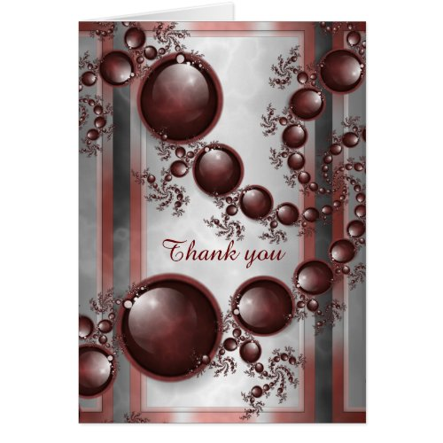 Black Marble Spiral Personalized Greeting Card