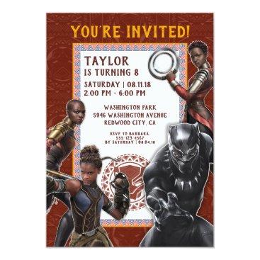 Black Panther | Wakandan Warriors Birthday Invitation