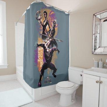 Black Panther | Wakandan Warriors Painted Graphic Shower Curtain