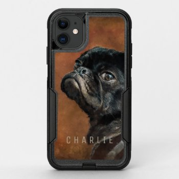 Black Pug Dog OtterBox Commuter iPhone 11 Case